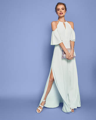 Ted Baker DULCIEE Cut-out shoulder maxi dress