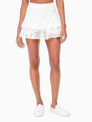 Kate Spade Eyelet ruffle skirt