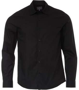 Peter Werth Mens Poplin Shirt Black
