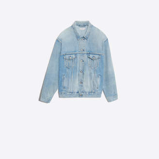 Balenciaga Seasonal back embroidered denim jacket