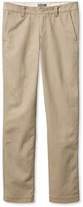 L.L. Bean L.L.Bean Signature Khakis, Lined Slim Straight
