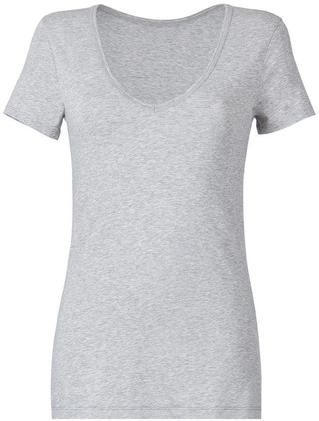Closed Light Grey V-Neck T-Shirt