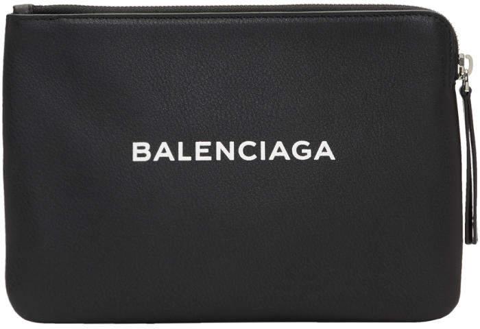 Balenciaga Black Everyday Zip Pouch