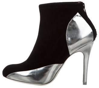 Maison Margiela Suede Metallic Ankle Boots