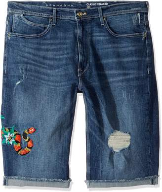Sean John Men's Big and Tall Embroidered Five Pocket Denim Short
