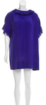 e2e49be30e Sonia Rykiel Sonia by Silk Ruffle-Accent Dress
