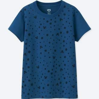 Uniqlo WOMEN Mickey Blue Short Sleeve Graphic T-Shirt