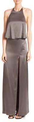 Halston Halter Slip Gown
