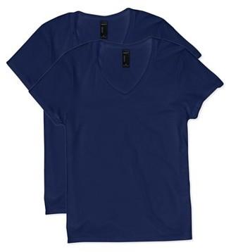 Hanes Women's Lightweight Nano-T Short Sleeve V-neck Tee (2-Pack)