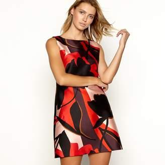 Principles Red Floral Print Sleeveless Knee Length Dress
