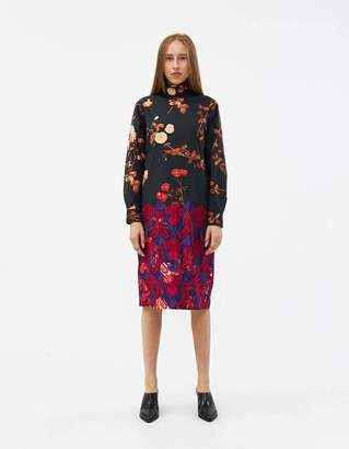 Dries Van Noten Dontisy Embroidered Dress in Anthra