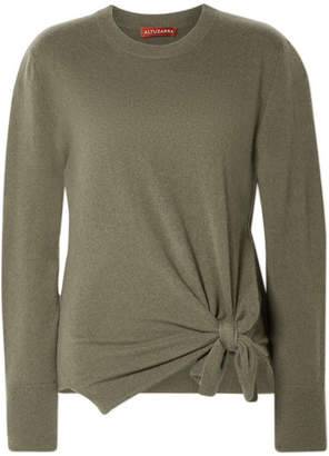 Altuzarra Nalini Knotted Cashmere Sweater - Army green