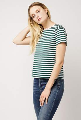 Azalea Stripe Contrast Collar Top