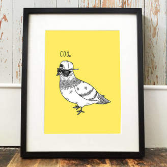 Pigeon JOLLY AWESOME 'Coo' Print