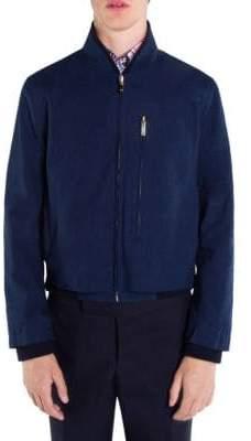 Thom Browne Reversible Cotton Zip Front Jacket