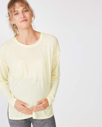 Maternity Long Sleeve Split Hem Top