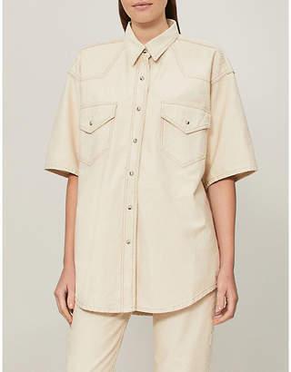 NANUSHKA Seymour oversized denim shirt