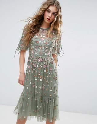Needle & Thread Needle and Thread Floweret Embellished Midi Dress $451 thestylecure.com
