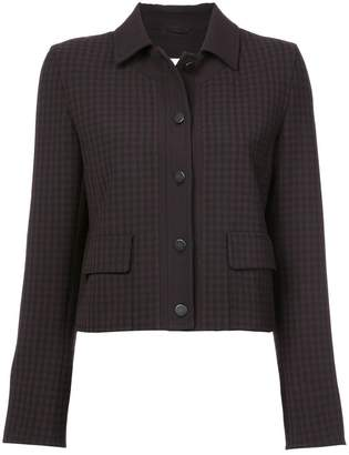 Akris Punto checked fitted jacket