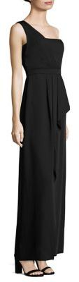 BCBGMAXAZRIABCBGMAXAZRIA Kristine One-Shoulder Peplum Gown