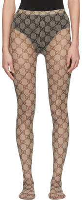 Gucci Beige GG Supreme Tights