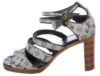 Louis Vuitton Monogram Ankle-Strap Sandals