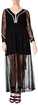 Plus Size Women's Elvi Lace Maxi Dress $119 thestylecure.com