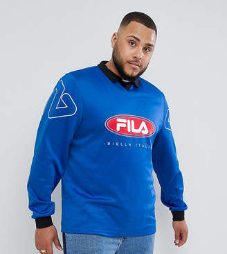 Fila retro goalie long sleeve t-shirt in blue