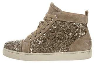 Christian Louboutin Louis Strass High-Top Sneakers