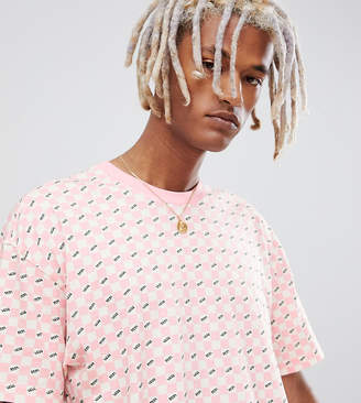 Vans checkerboard t-shirt in pink Exclusive at ASOS