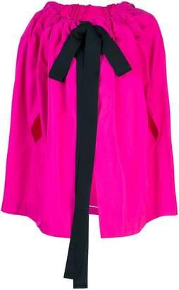 Rochas bow detail cape