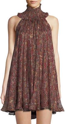 Caroline Constas Mock-Neck Mini Dress