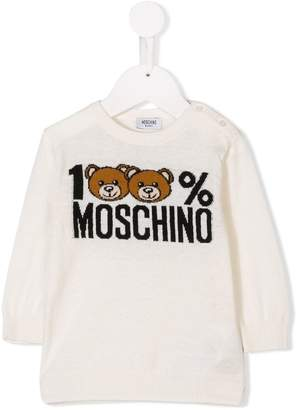 Moschino Kids jacquard logo knit sweater