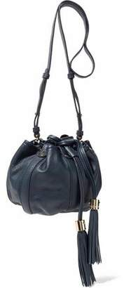 See by Chloe Vicki Tasseled Textured-Leather Bucket Bag