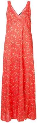 R 13 floral print maxi dress