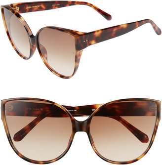 Linda Farrow 62mm Oversize Cat Eye Sunglasses