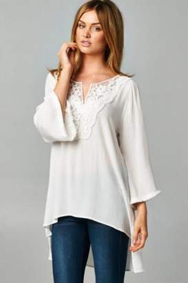 ce3e044c77e People Outfitter White Lace Tunic