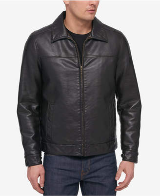 Tommy Hilfiger Men's Big & Tall Faux-Leather Jacket
