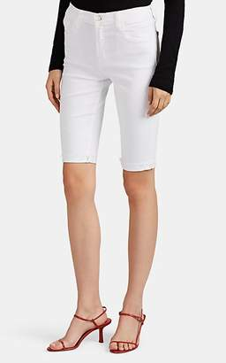 J Brand Women's Denim Bermuda Shorts - White