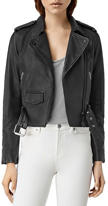 ALLSAINTS Baron Leather Motorcycle Jacket $505 thestylecure.com
