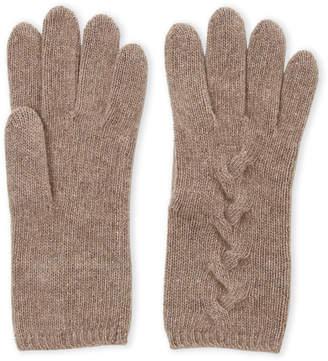 Portolano Cashmere Cable Knit Gloves