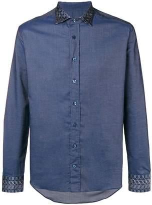 Etro contrast trim shirt