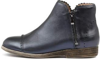 Silent d Apris Navy metallic Boots Womens Shoes Ankle Boots