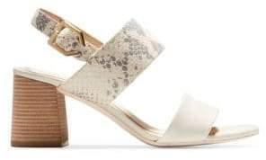 Cole Haan Women's Premium Avani City Leather Sandals - Ivory - Size 10