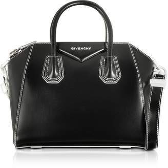 Givenchy Black/White Shinny Leather Small Antigona Tote Bag
