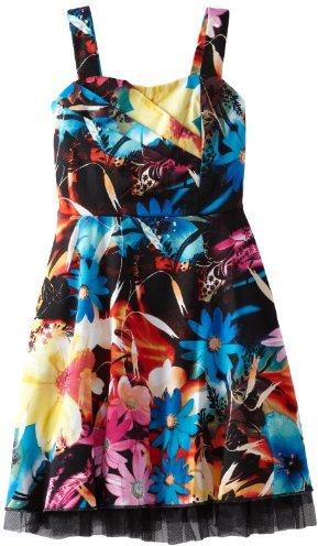 Ruby Rox Girls 7-16 Photoreal Print Dress