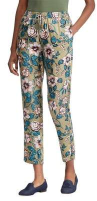Lauren Ralph Lauren Petite Floral-Print Twill Cropped Pants