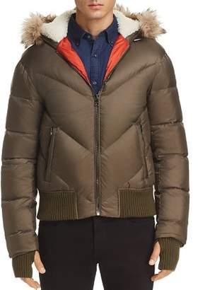 Michael Kors Faux Fur-Trimmed Down Jacket