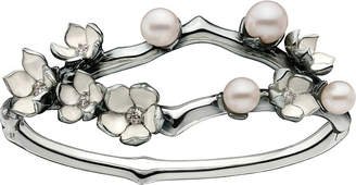 Shaun Leane Silver and diamond Cherry Blossom cuff, silver