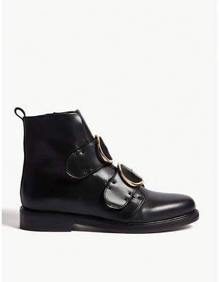 Maje Felipe leather ankle boots